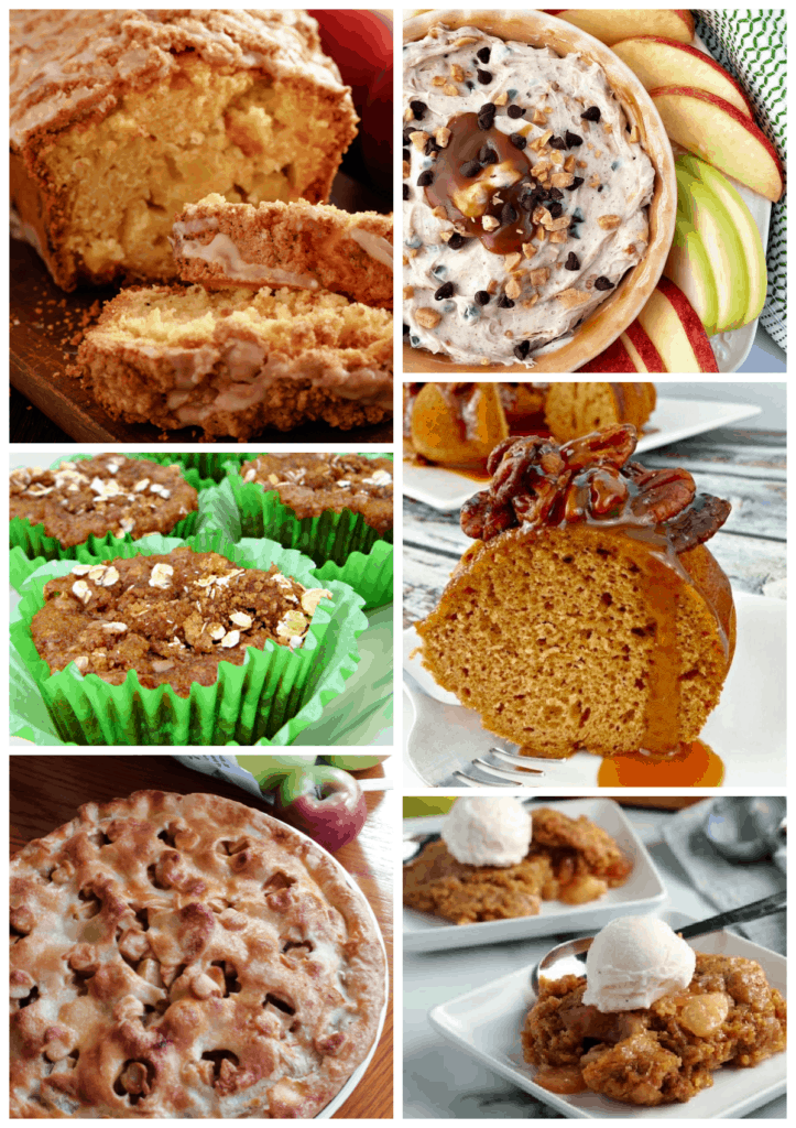 30+ Best Apple Recipes for Fall collage image