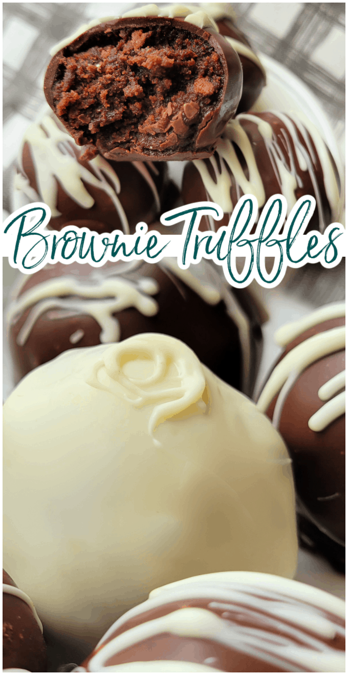 If you love cake pops you just have to try this decadent brownie truffle version. All the richness of a brownie with a delicious coating of your favorite chocolate! via @jugglingactmama