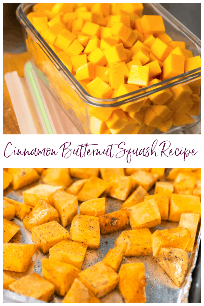 An easy, delicious cinnamon butternut squash recipe with cinnamon, brown sugar, and all the warm flavors of fall in each and every bite. This dish is perfect for weeknight meals but also ideal for the holidays. via @jugglingactmama