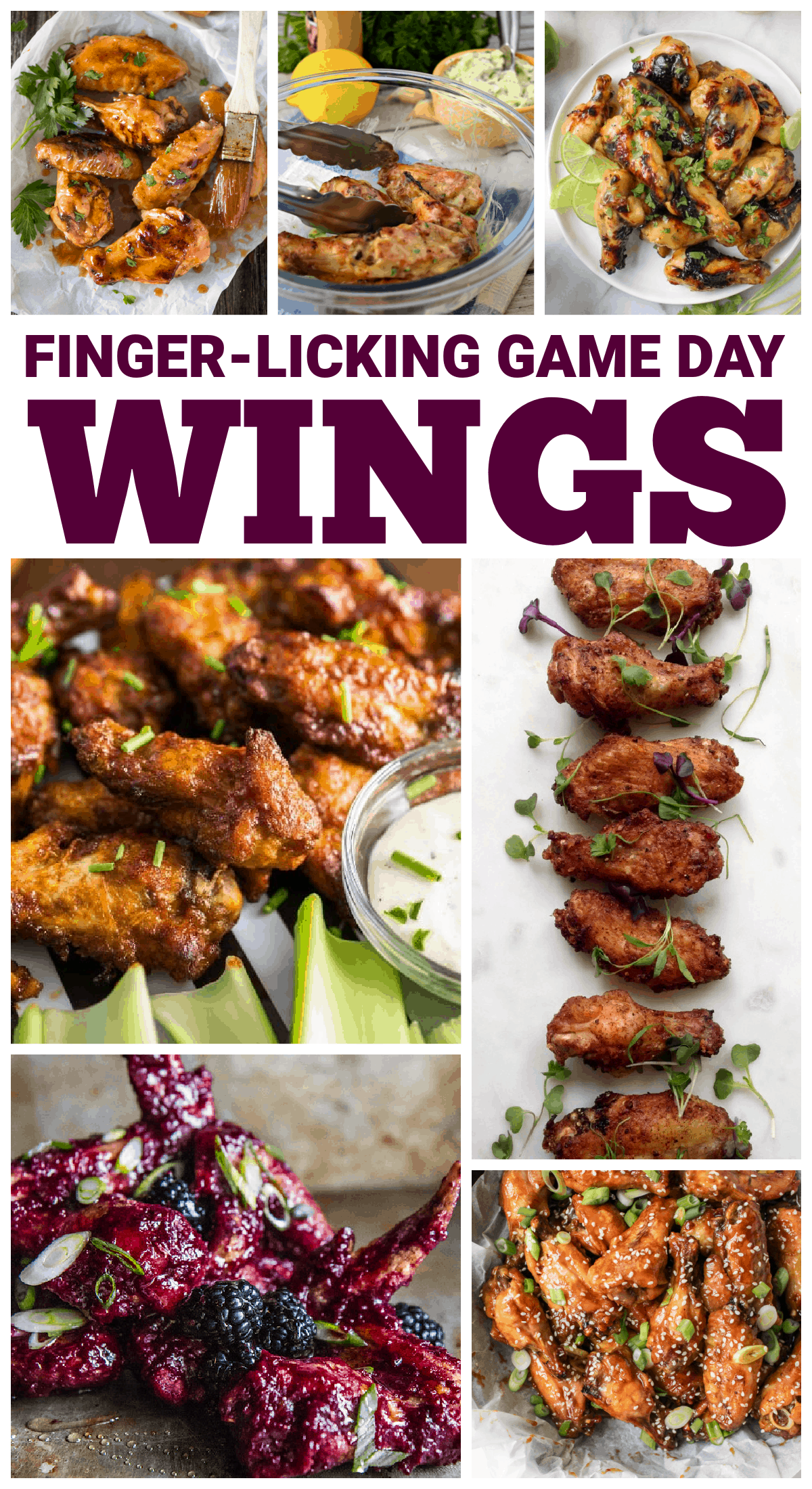 Whether you like a hint of sweet or a touch of spice, we have tons of crowd-pleasing, finger-licking delicious game day wings to choose from! via @jugglingactmama
